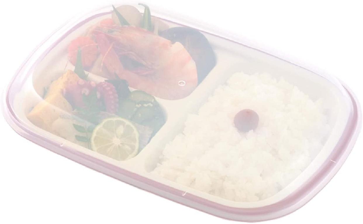 楽弁(Rakuben) フタ付ランチプレート(角)朱 348881の商品画像5
