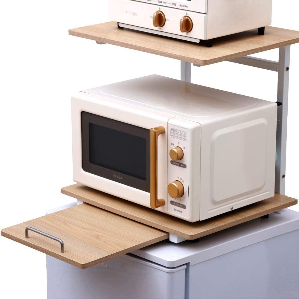 IRIS OHYAMA(アイリスオーヤマ)冷蔵庫上ラック ホワイト/ナチュラル RUR-480の商品画像7