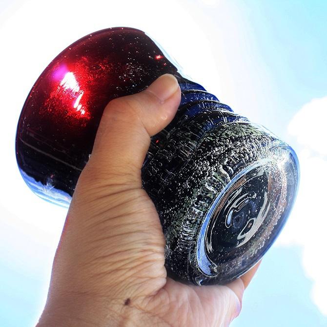 くば笠屋(くばがさや)黒紫泡グラスの商品画像5