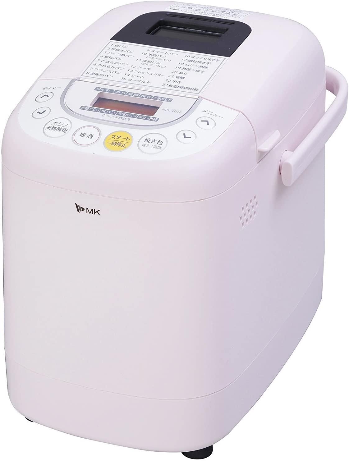 MK精工(エムケー精工)ふっくらパン屋さん (ホームベーカリー1斤タイプ) HBK-101Pの商品画像
