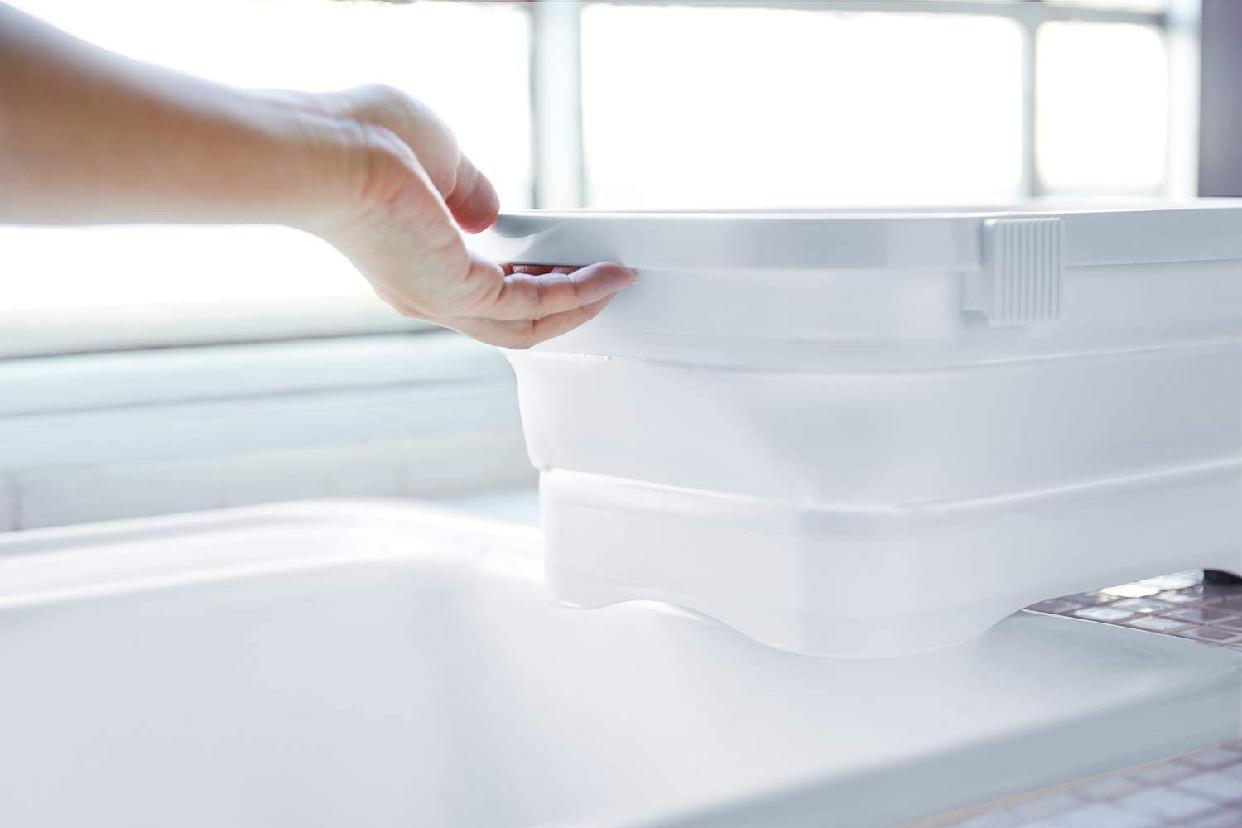 伊勢藤 折りたたみ洗い桶 キッチンソフトタブ 6.6L I-590の商品画像9
