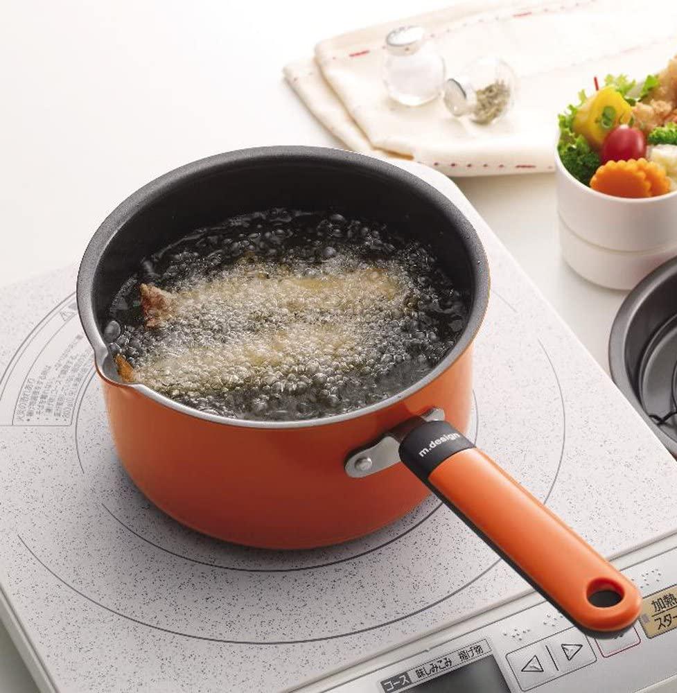 m.design(エムデザイン) お弁当あげもの鍋 オレンジ MAD-2の商品画像5
