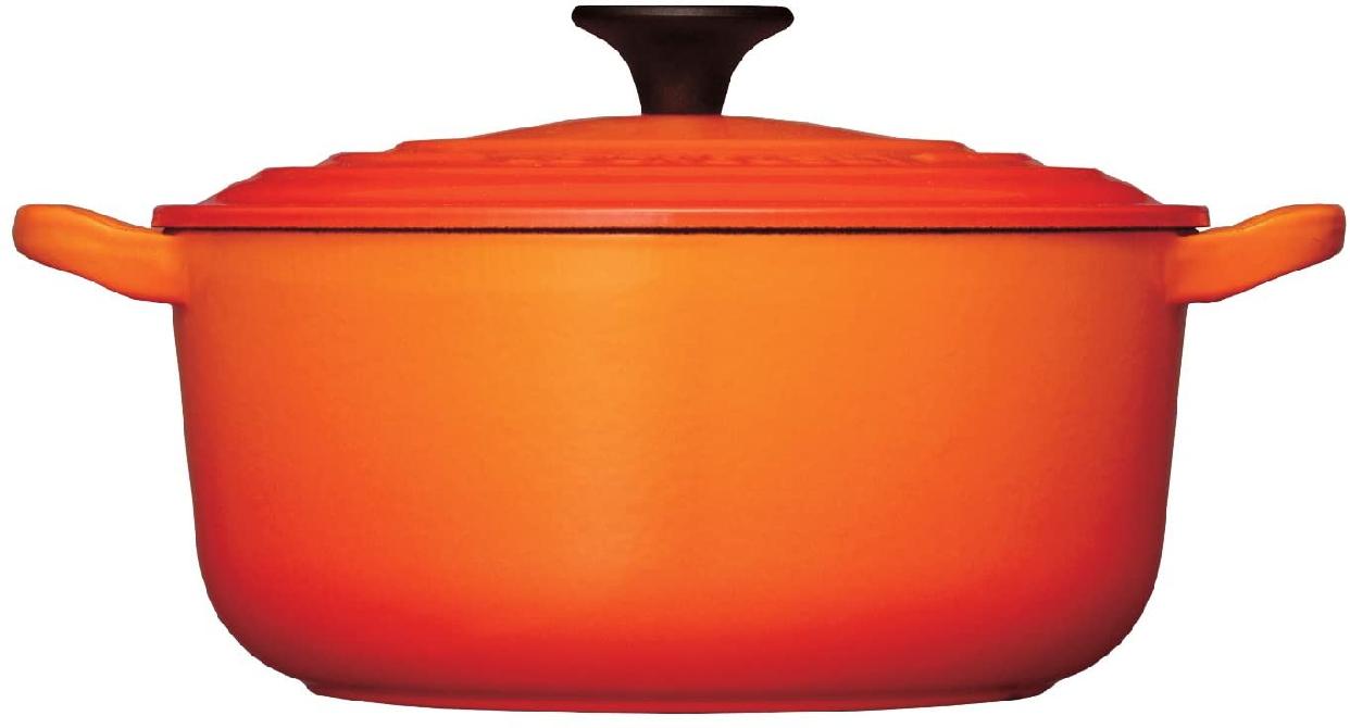 LE CREUSET(ル・クルーゼ)シグニチャー ココット・ロンド (ブラックツマミ) 20cm オレンジの商品画像2