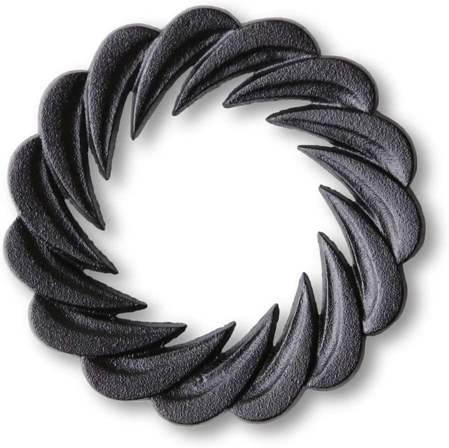 鋳心ノ工房 鍋敷・花弁 Y-2 ブラックの商品画像