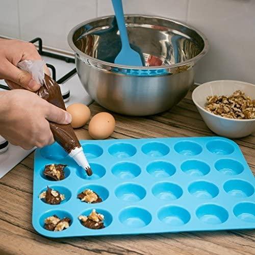 Homankit(ホームキット)ミニマフィンパンケーキ型  24取り ブルー レッドの商品画像3