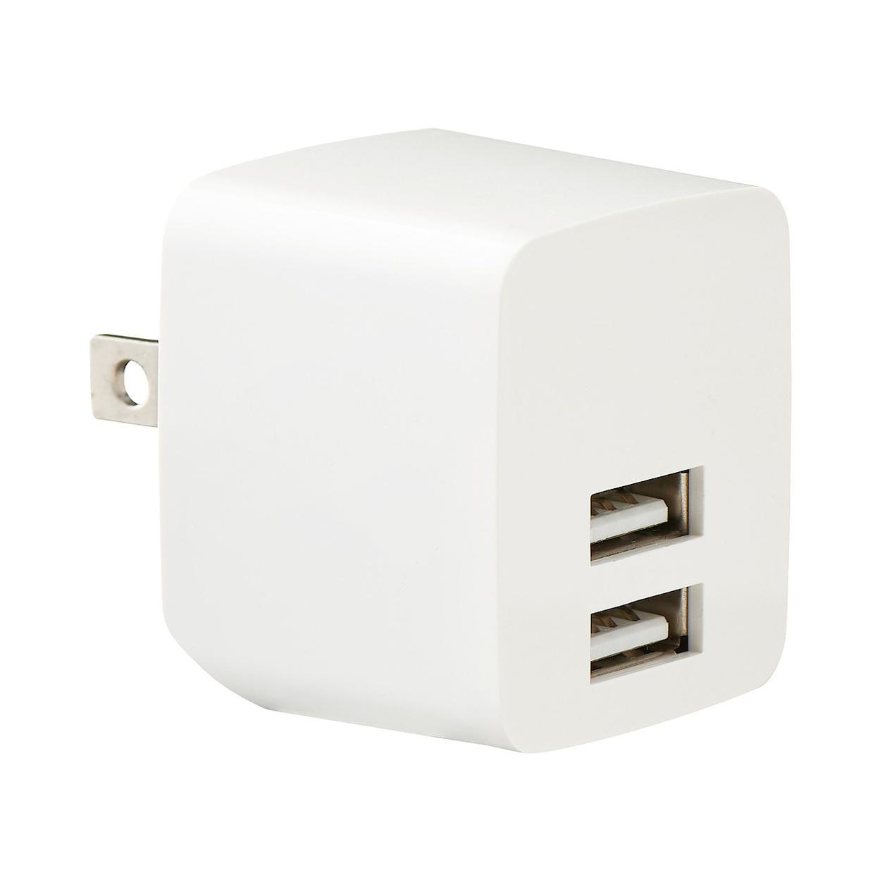 無印良品(MUJI) USB用プラグがしまえる急速充電器