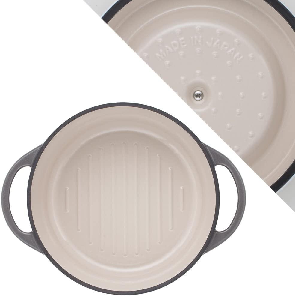 VERMICULAR(バーミキュラ) オーブンポットラウンド22cm パールグレーの商品画像3