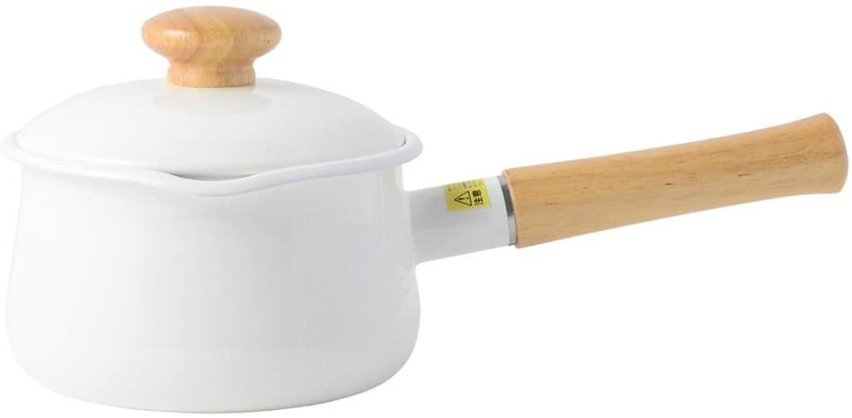 富士ホーロー(フジホーロー)ミルクパン 15cm ホワイトの商品画像