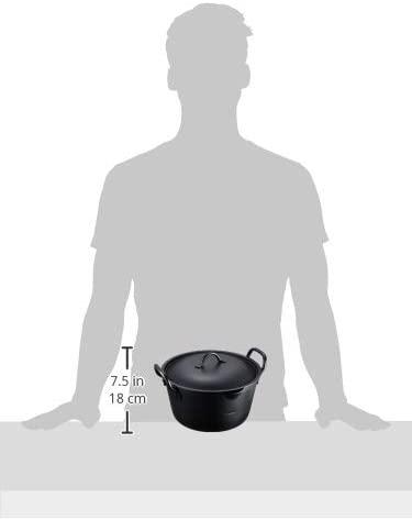 summit(サミット) IHたっぷり深型揚げ鍋20㎝(フタ付)ブラックの商品画像4