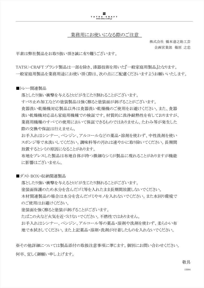 Tatsu-craft(タツクラフト)NR ランチョントレー Mの商品画像9