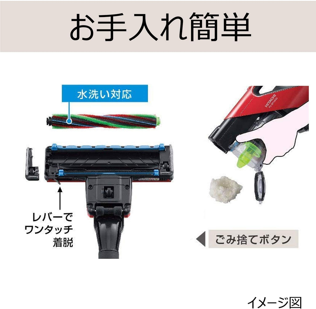 日立(HITACHI) パワーブーストサイクロン PV-BFH900の商品画像4