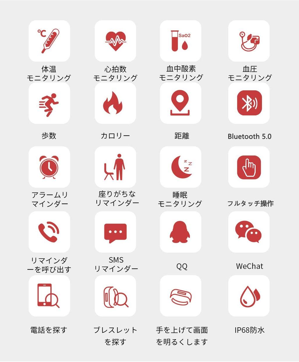 Timicon(ティムコン) スマートウォッチ G21の商品画像5