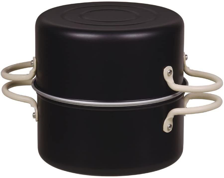 パール金属(PEARL) オベ・フラ お弁当用鉄製両手フライ鍋セット16cm ブラック HB-285の商品画像