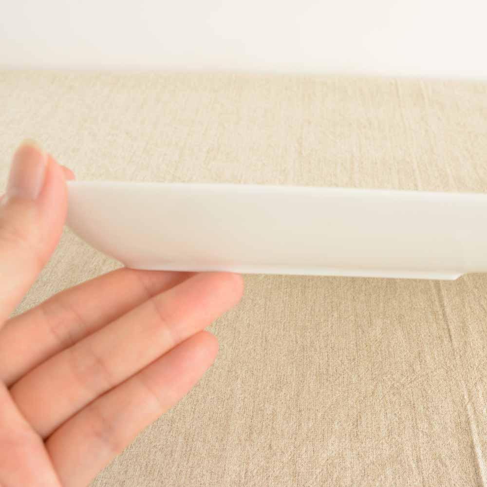 大和陶器(ヤマトトウキ) 軽量うすかる 持ち手付き スクエアランチプレート 白の商品画像5