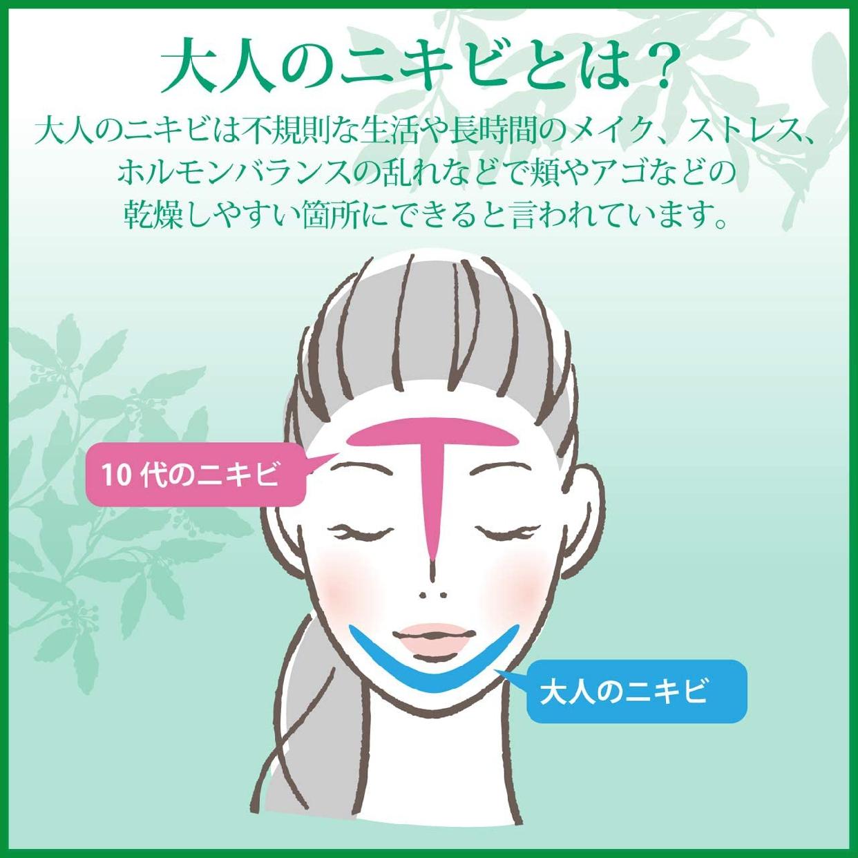 肌美精(はだびせい)大人のニキビ対策 薬用美白クリームの商品画像10