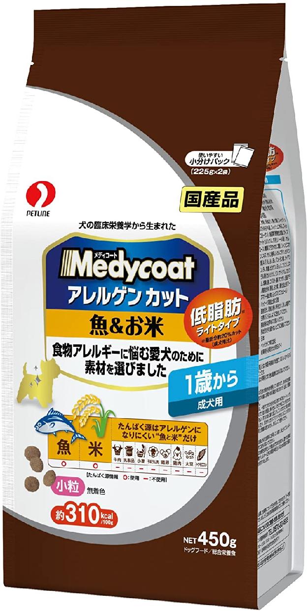 Medycoat(メディコート) アレルゲンカット 魚&お米 1歳から 成犬用の商品画像