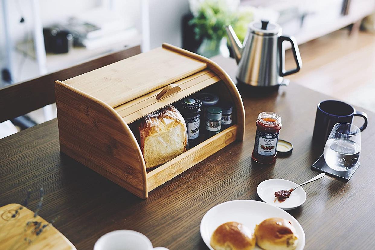 La Cuisine(ラ クイジーヌ) 竹製ブレッドケース ナチュラル EF-LC05の商品画像3