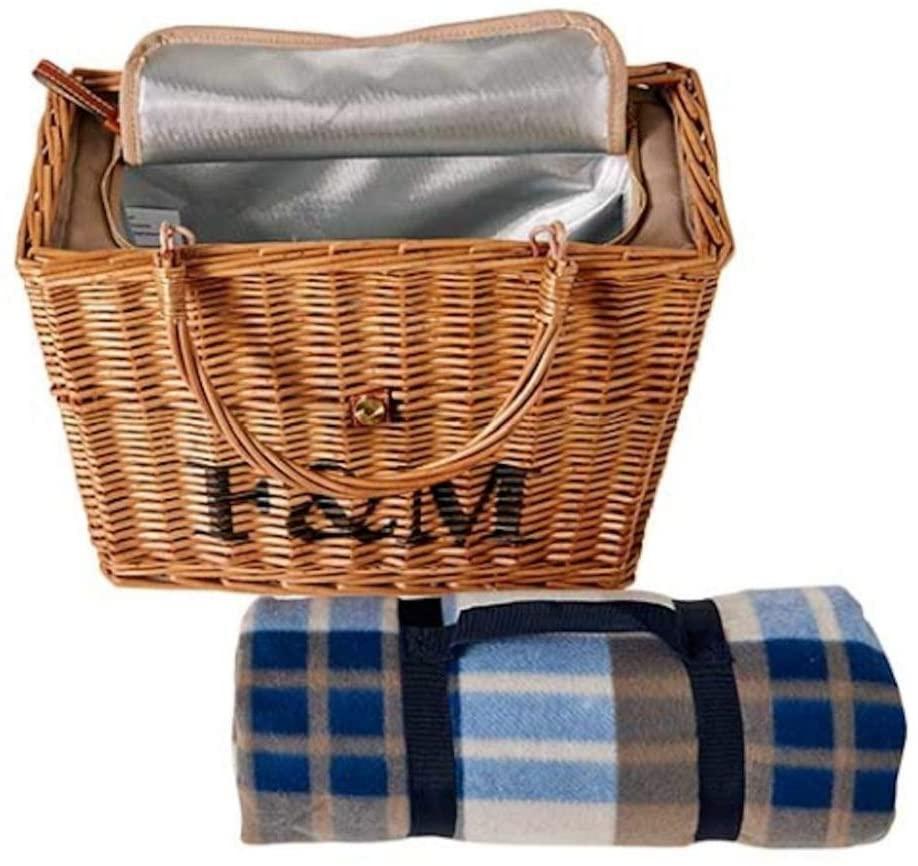 Fortnum & Mason(フォートナム&メイソン)ピクニックラグ付き保冷バスケット ブラウンの商品画像4