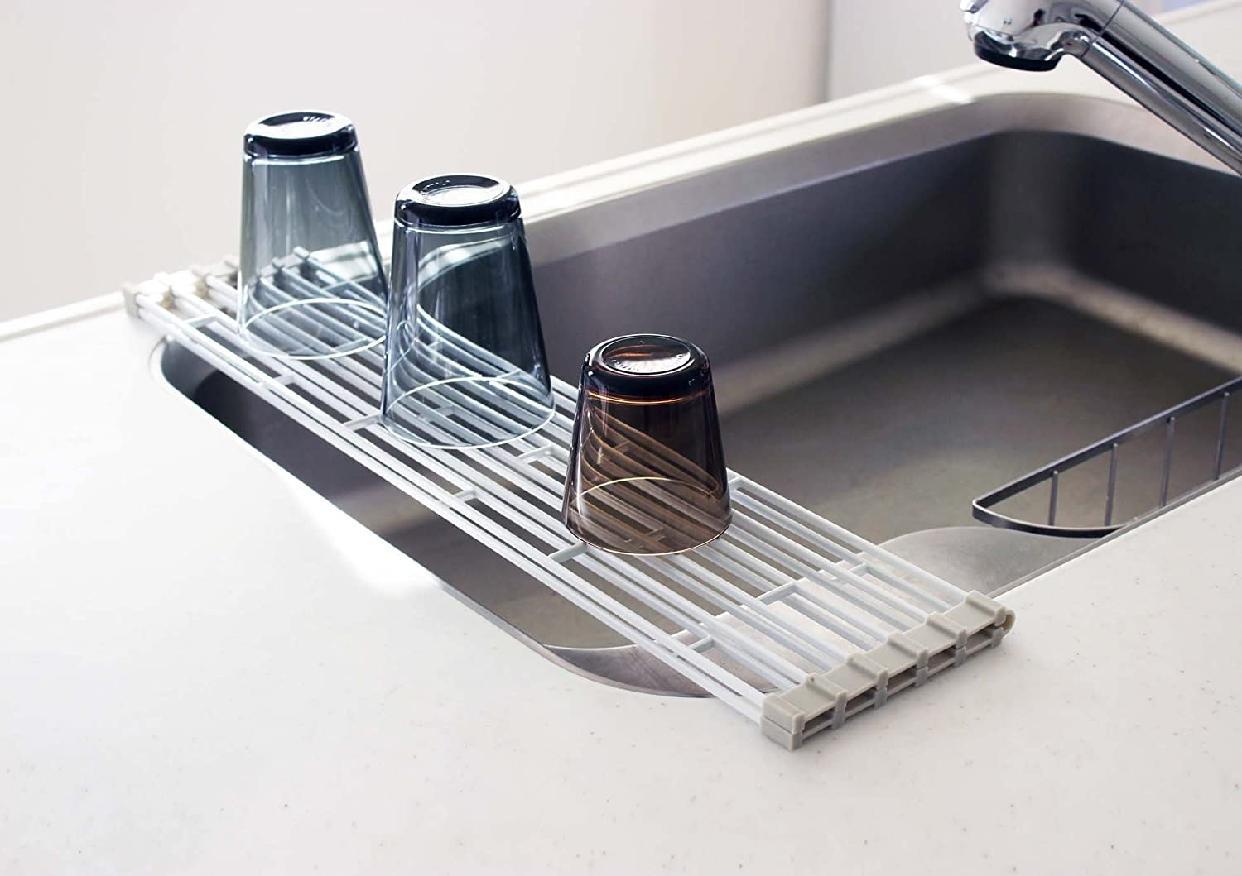山崎実業(Yamazaki) 折り畳み水切りラック プレート L 7846 ホワイトの商品画像9