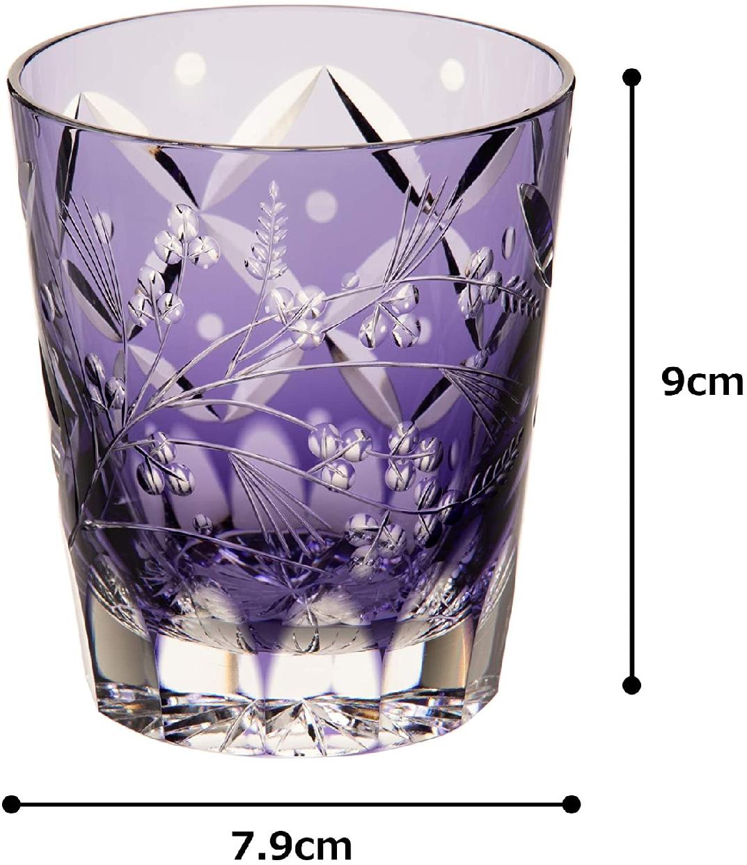 江戸切子(えどきりこ)焼酎ロックグラス<萩とススキ> 230cc T557-2650CMPの商品画像6