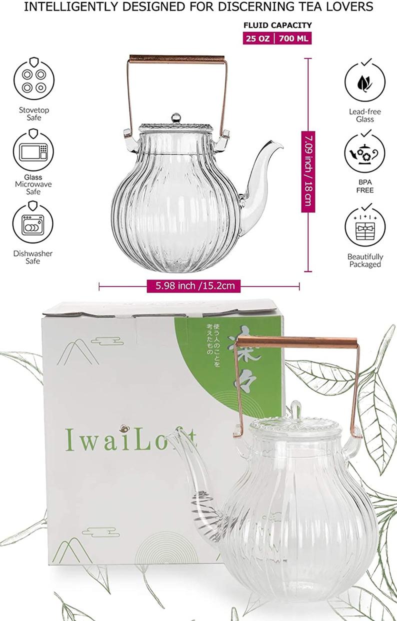 IwaiLoft(イワイロフト) 耐熱ガラス ティーポット IL-G1968の商品画像6