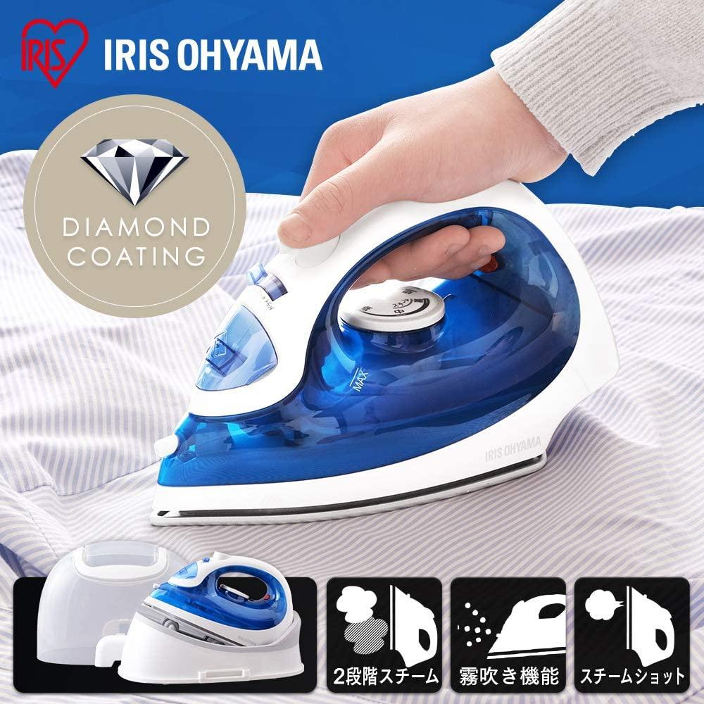 IRIS OHYAMA(アイリスオーヤマ) コードレスアイロン ブルー SIR-04CLCDの商品画像2