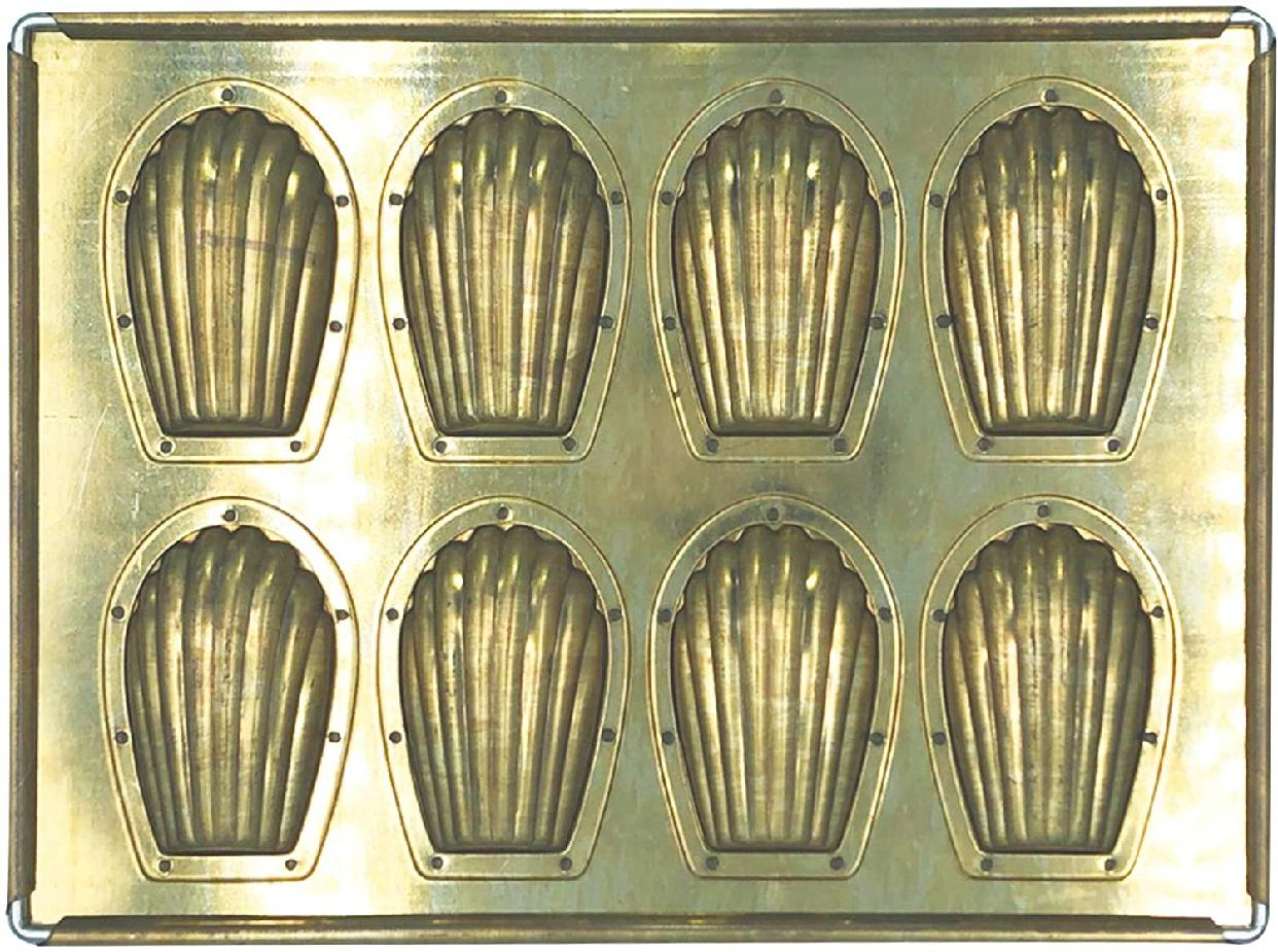 松永製作所(マツナガセイサクジョ) シリコン加工 マドレーヌ天板8P ゴールド MS1の商品画像2