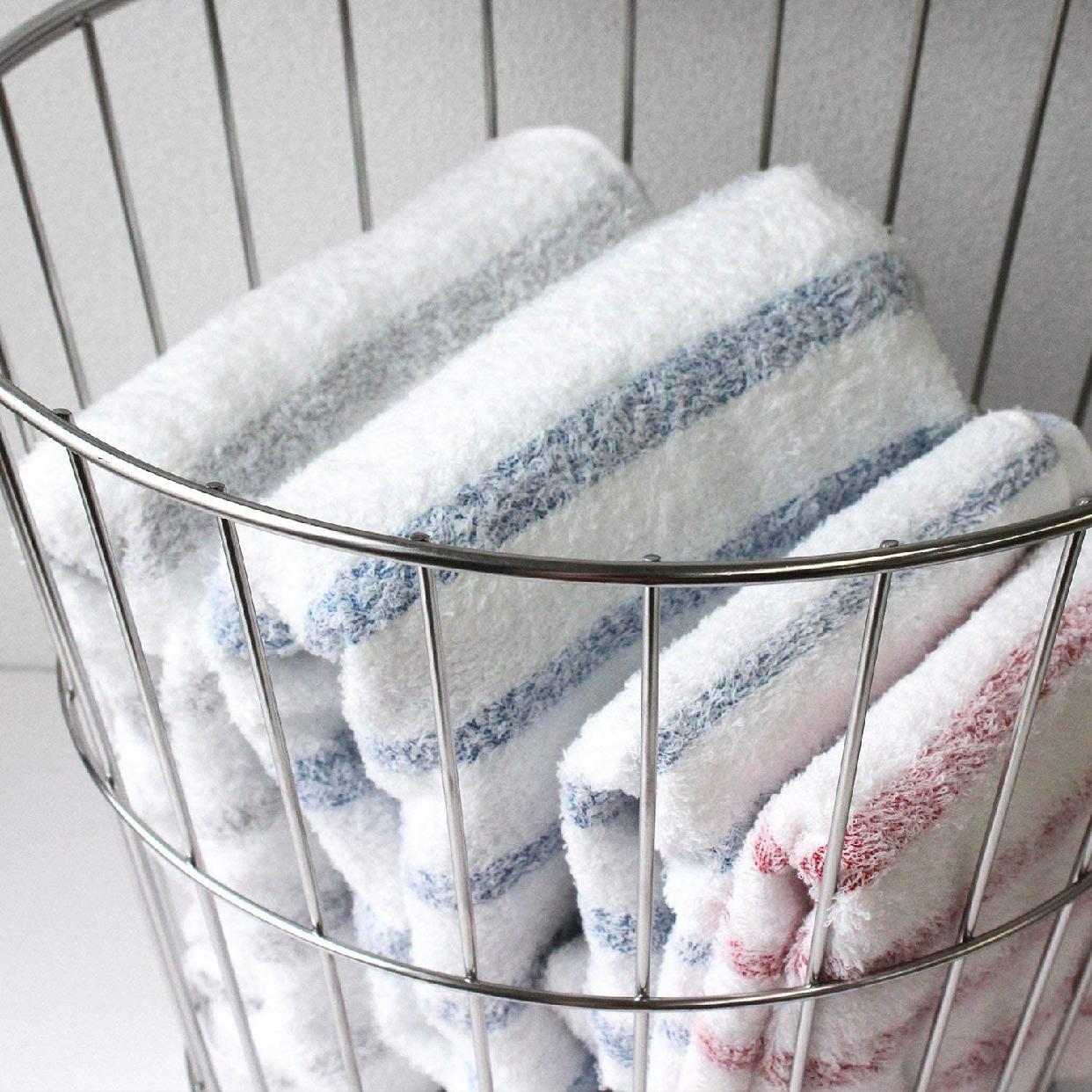 hiorie(ヒオリエ) 今治タオル ボーダーバスタオルの商品画像9