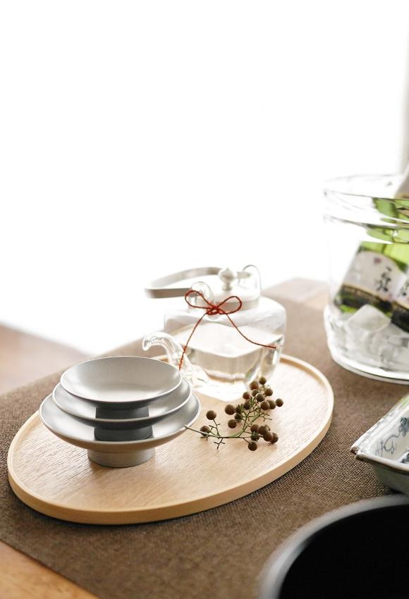 OJIGI TOKYO(オジギ トウキョウ)白木盆 シルバー 屠蘇器揃 化粧箱入りの商品画像12