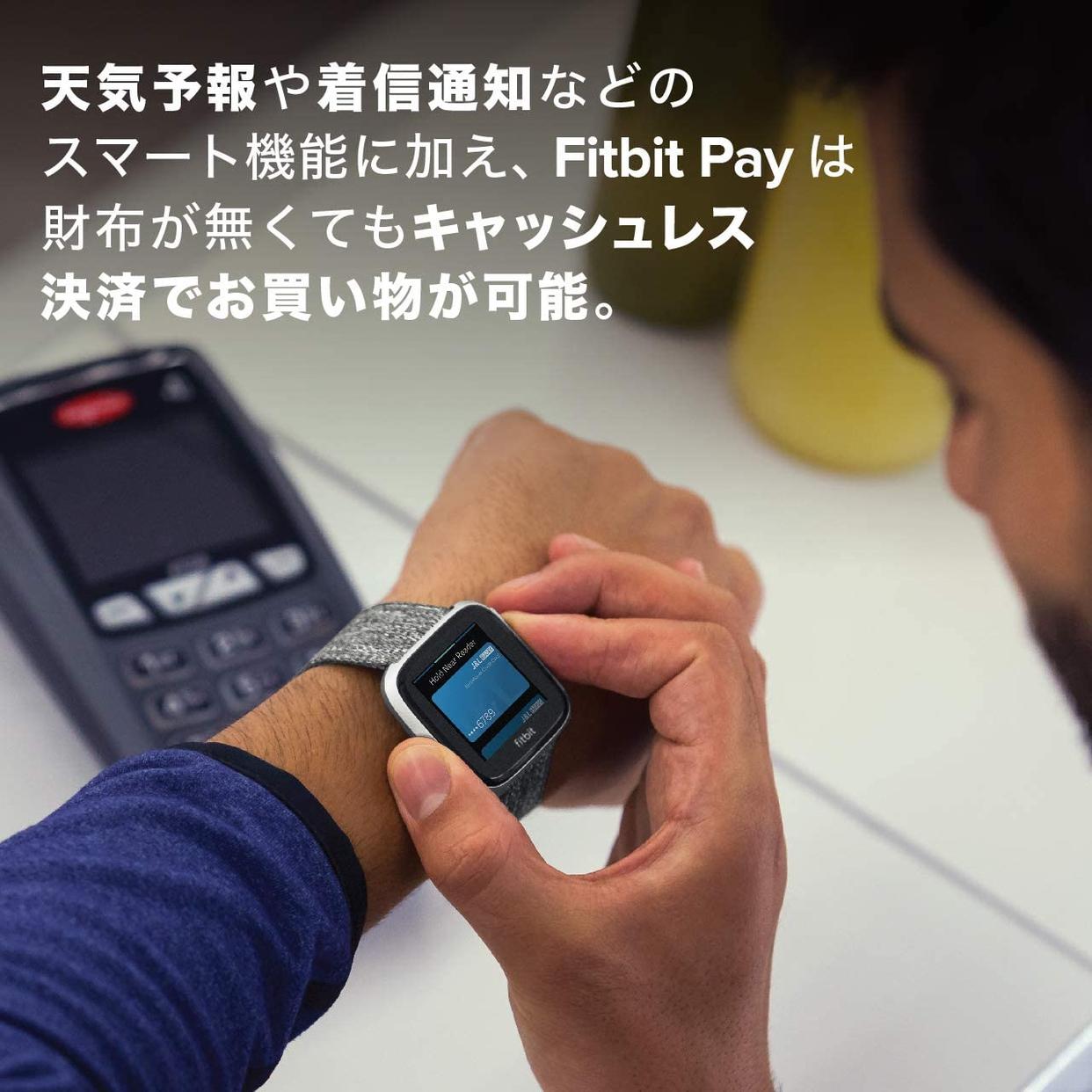 Fitbit(フィットビット) Fitbit Versa 2 FB507BKBK-FRCJKの商品画像4