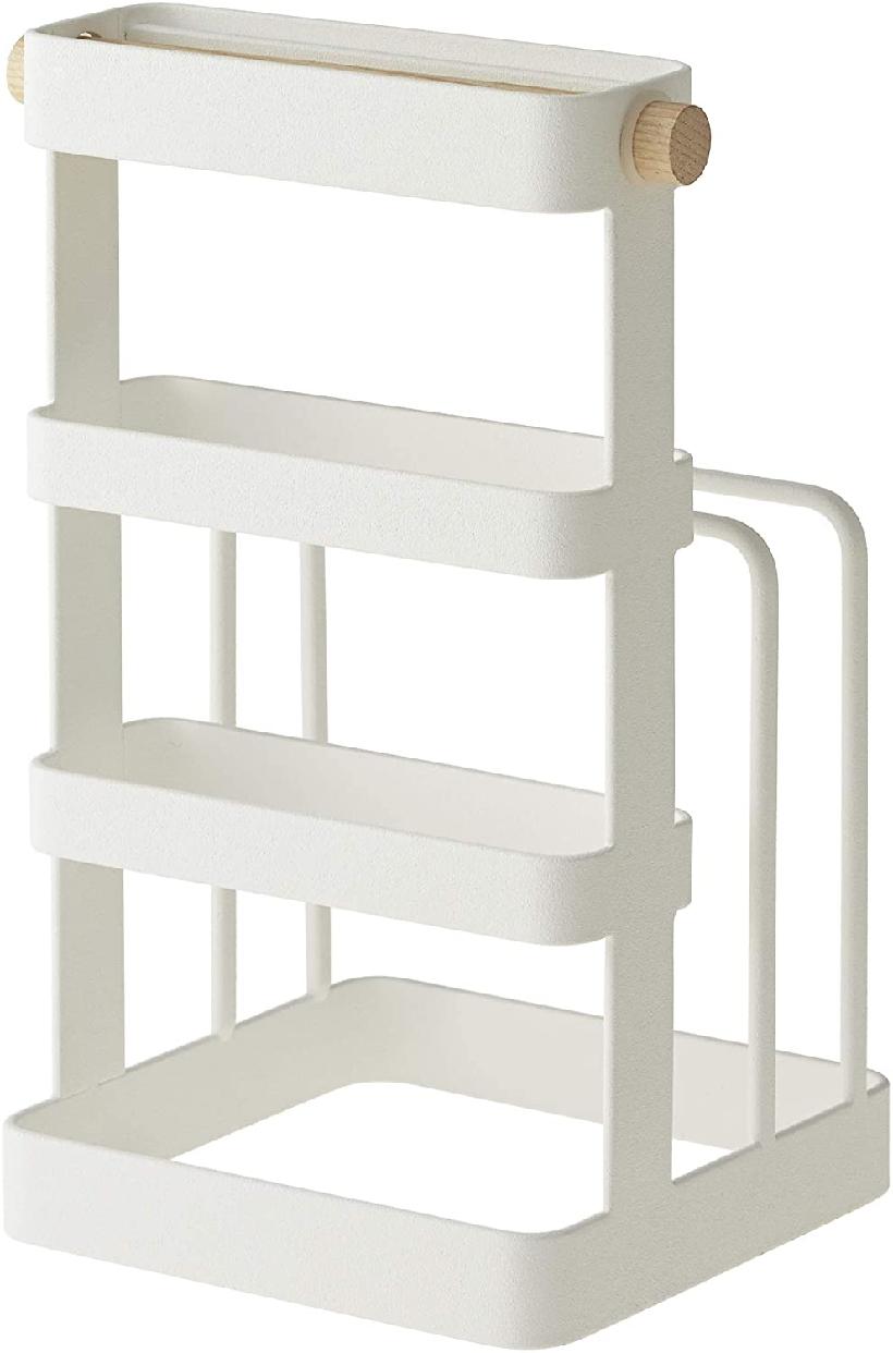山崎実業(Yamazaki) 包丁&まな板スタンド トスカ ホワイト 2421の商品画像
