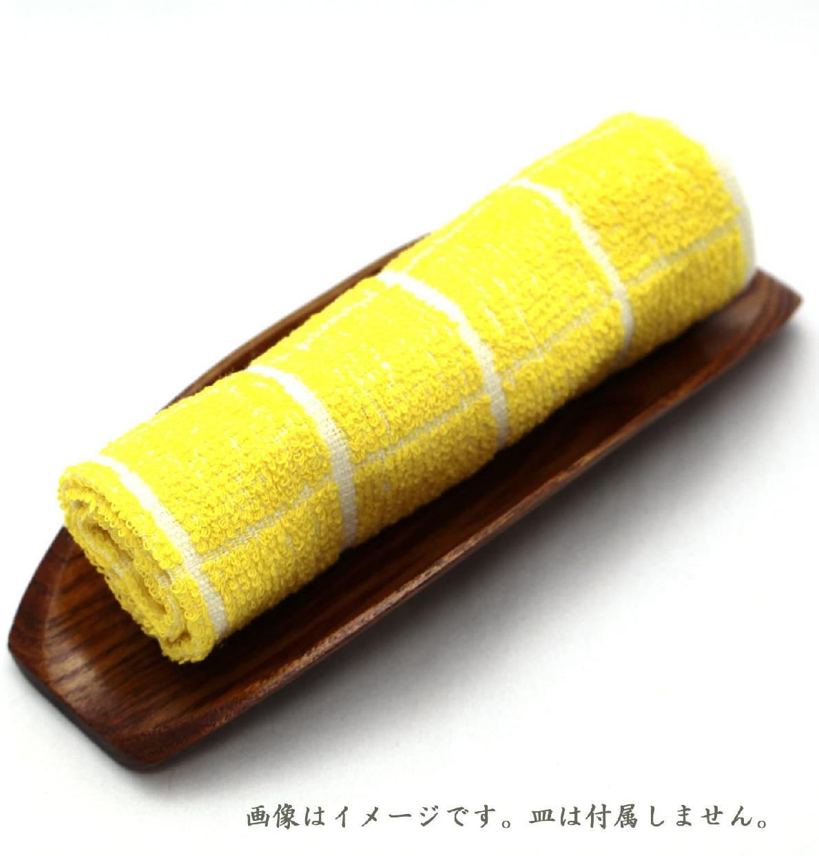 中村(ナカムラ)おしぼり 格子柄タオル イエローの商品画像7
