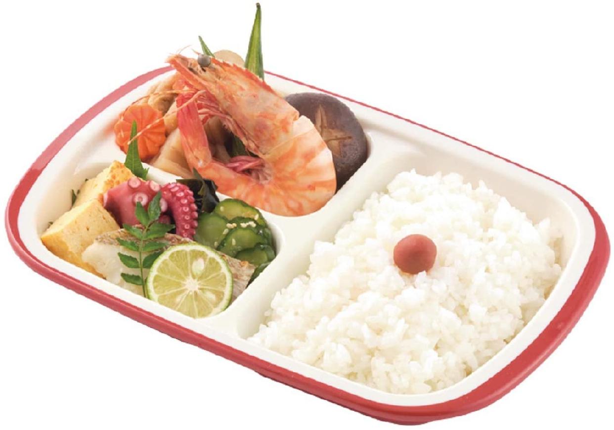 楽弁(Rakuben) フタ付ランチプレート(角)朱 348881の商品画像4