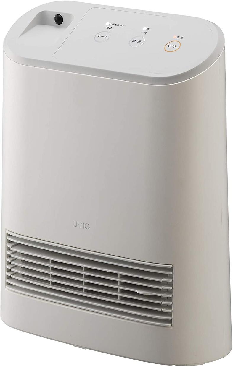 ユーイング 人感センサー付きセラミックファンヒーター US-S1200Mの商品画像