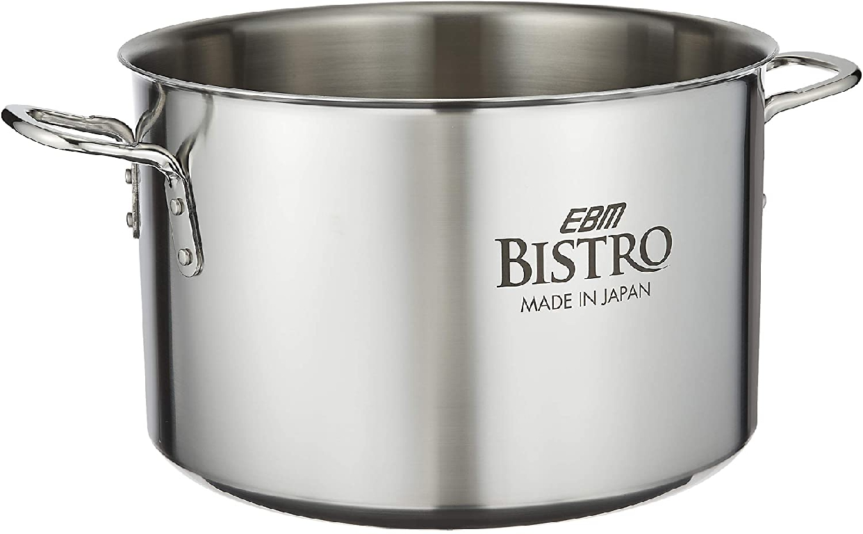 EBM(エービーエム)ビストロ 三層クラッド 半寸胴鍋 36cm 蓋無 シルバーの商品画像