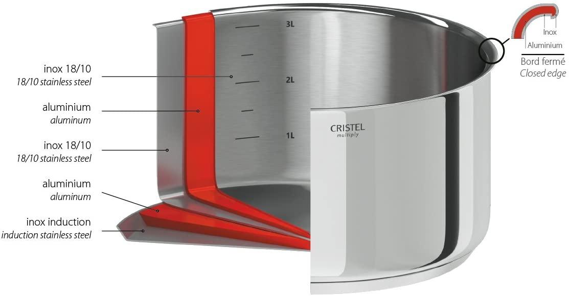 CRISTEL(クリステル) ノンスティック 中華鍋 20cm WOKT20QEの商品画像6