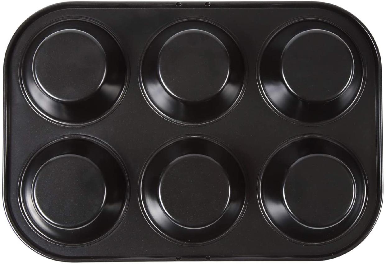 ソラトブフライパンマフィン天板 (マフィン型6ヶ付)ブラックの商品画像2