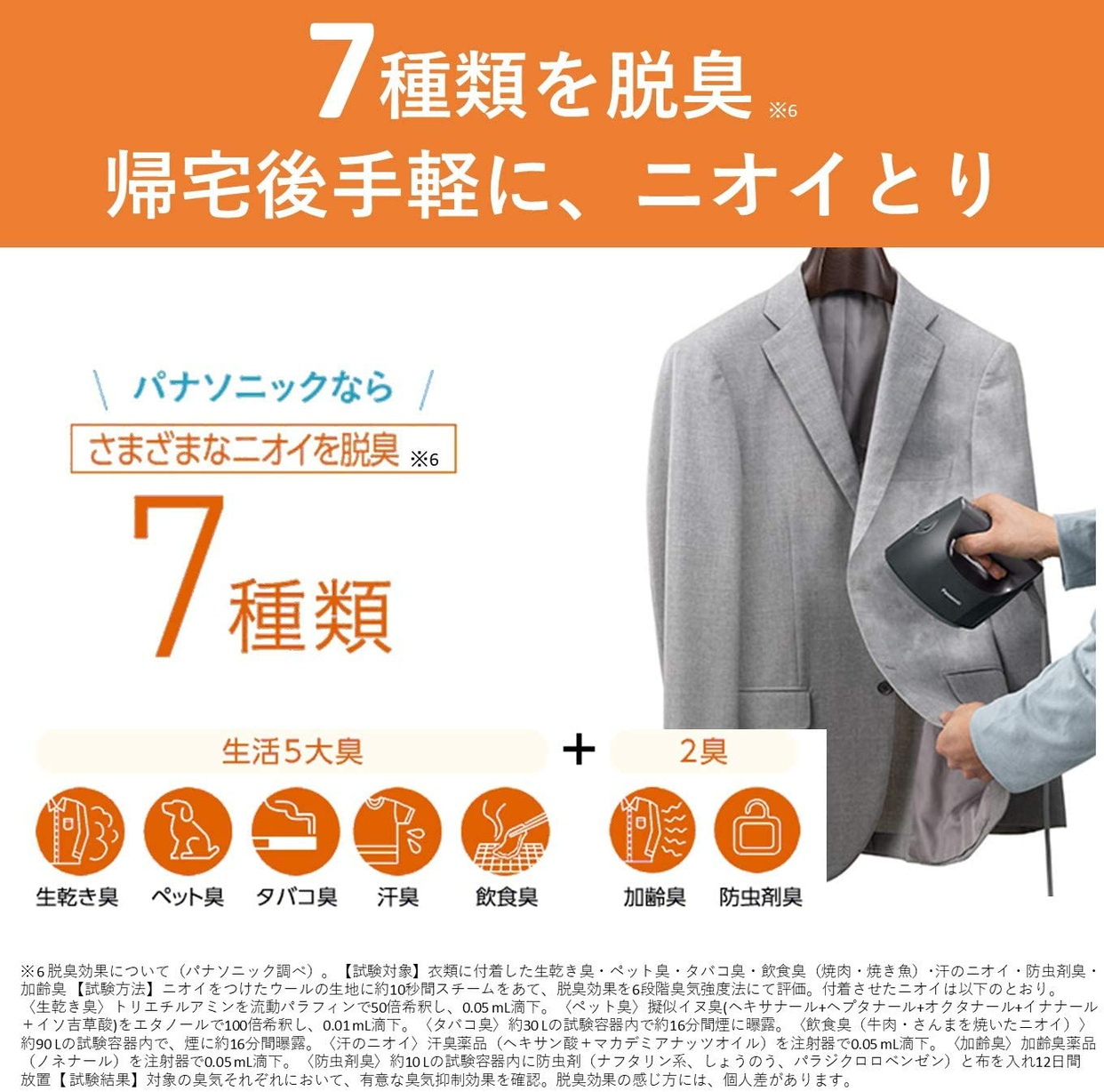 Panasonic(パナソニック) 衣類スチーマー NI-FS760の商品画像6