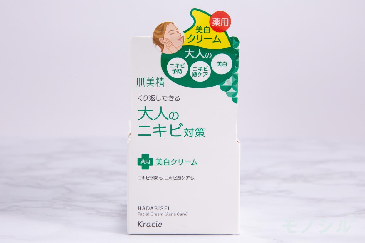 肌美精(はだびせい)大人のニキビ対策 薬用美白クリームの商品外箱の画像