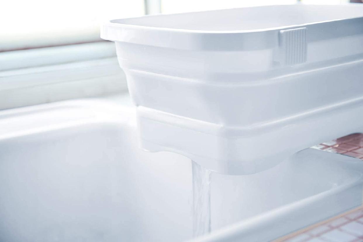 伊勢藤 折りたたみ洗い桶 キッチンソフトタブ 6.6L I-590の商品画像6