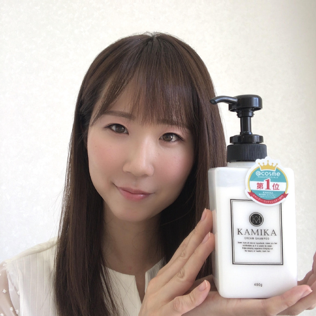 KAMIKA(カミカ) オールインワン黒髪クリームシャンプーを使った上田 麻里さんのクチコミ画像1