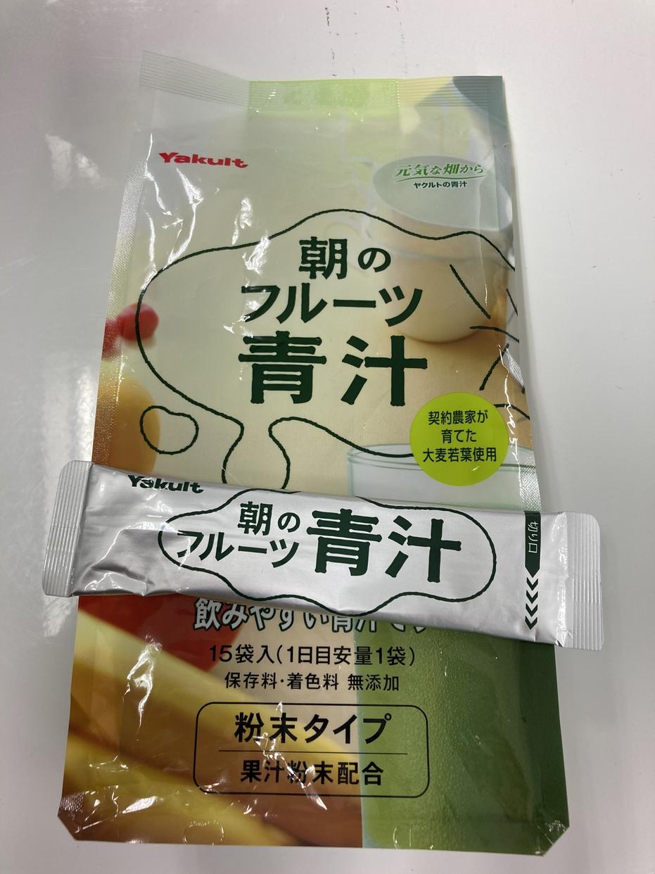 Yakult Health Foods(ヤクルトヘルスフーズ) 朝のフルーツ青汁を使ったMinato_nakamuraさんのクチコミ画像1