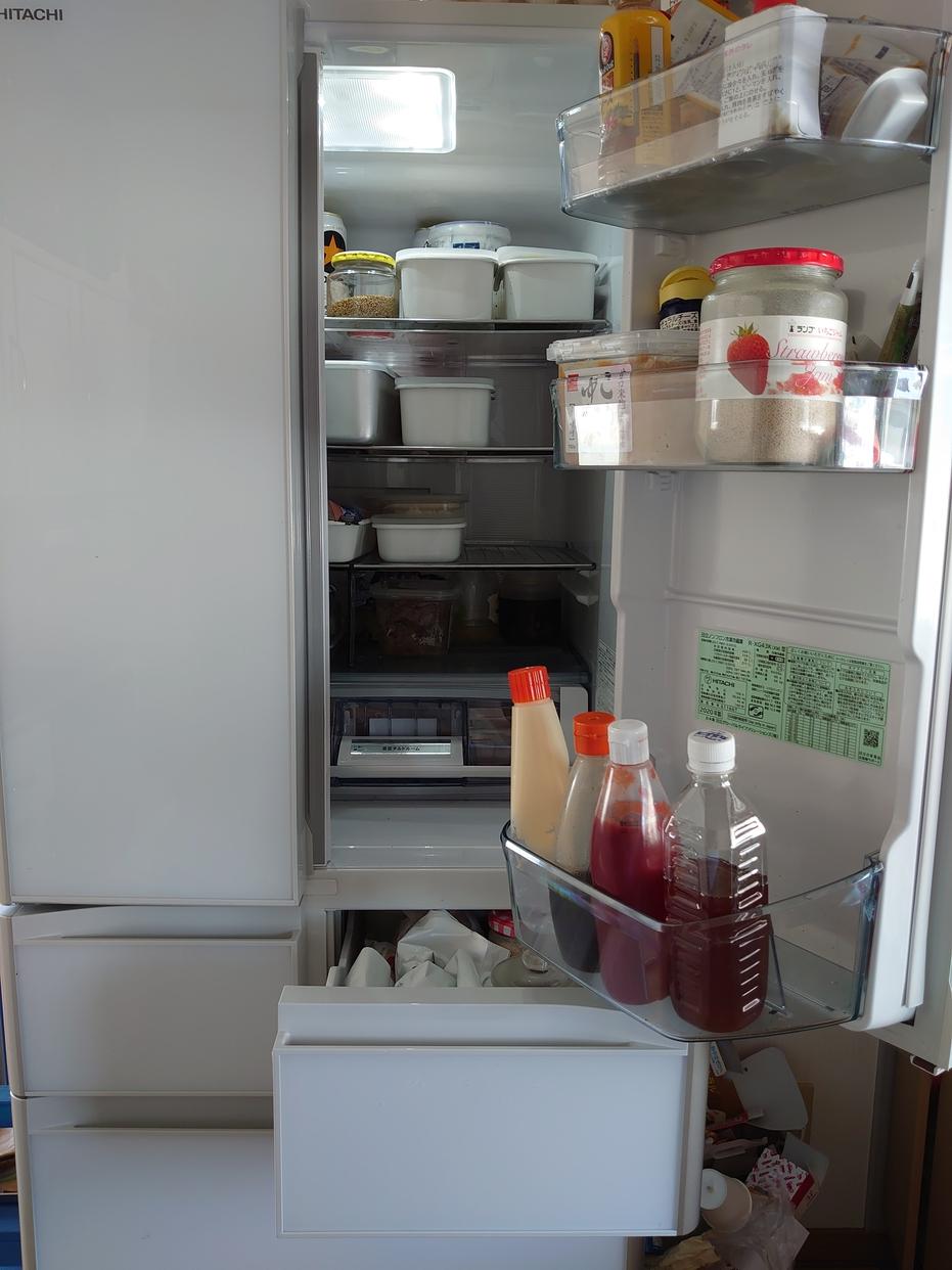 日立(HITACHI)430L 6ドア冷蔵庫 R-XG43Kを使ったエルマー エレベーターさんのクチコミ画像1