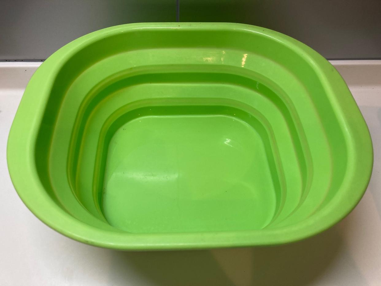 AIMEDIA(アイメディア)たためるシリコン洗い桶 グリーンを使ったpaseri さんのクチコミ画像1