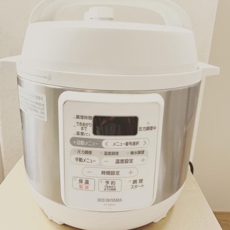 IRIS OHYAMA(アイリスオーヤマ)電気圧力鍋 3.0L ホワイト PC-EMA3-Wを使ったりかさんのクチコミ画像1