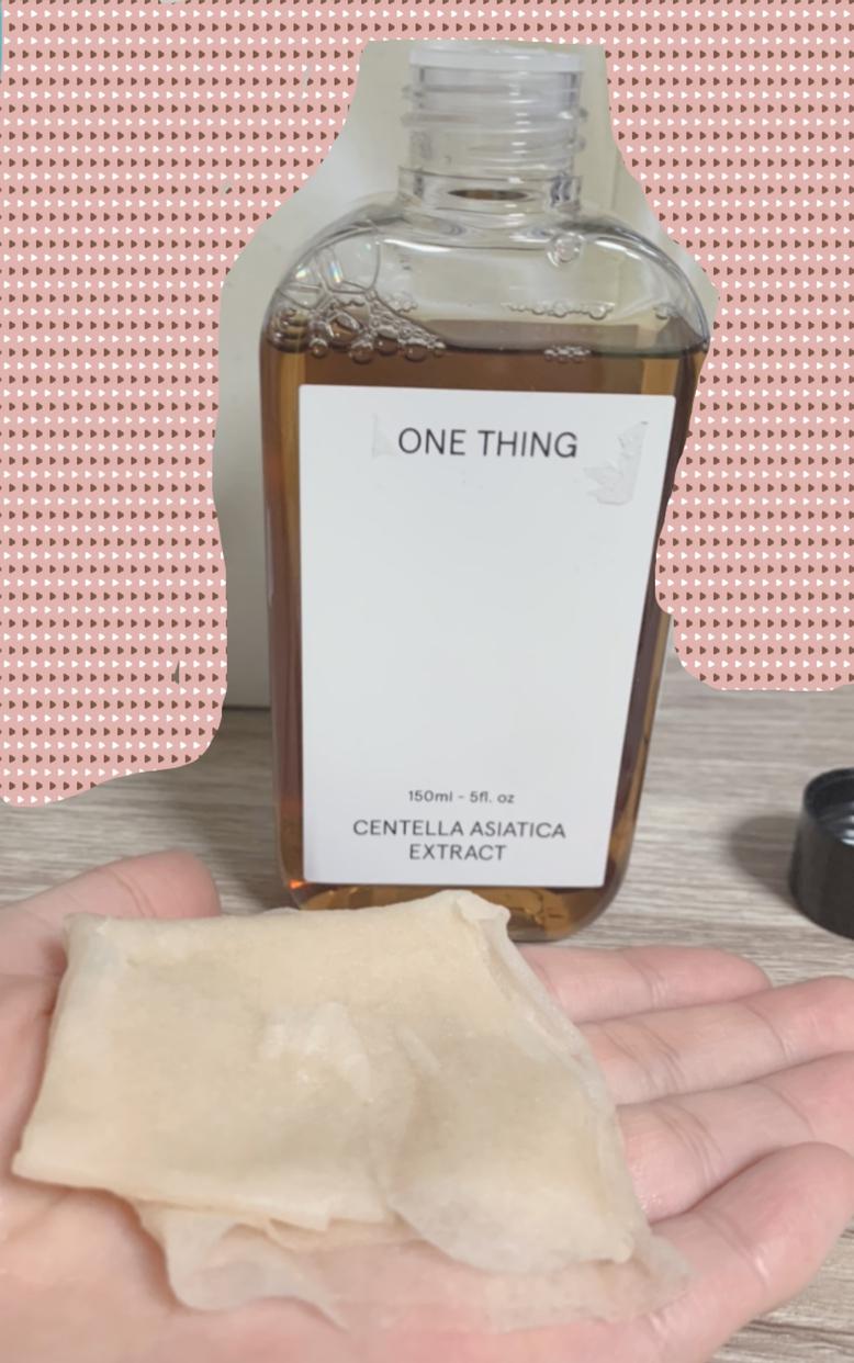 ONE THING(ワンシン)ツボクサエキス (センテラアジアチカ)を使ったユーザー仮登録さんのクチコミ画像