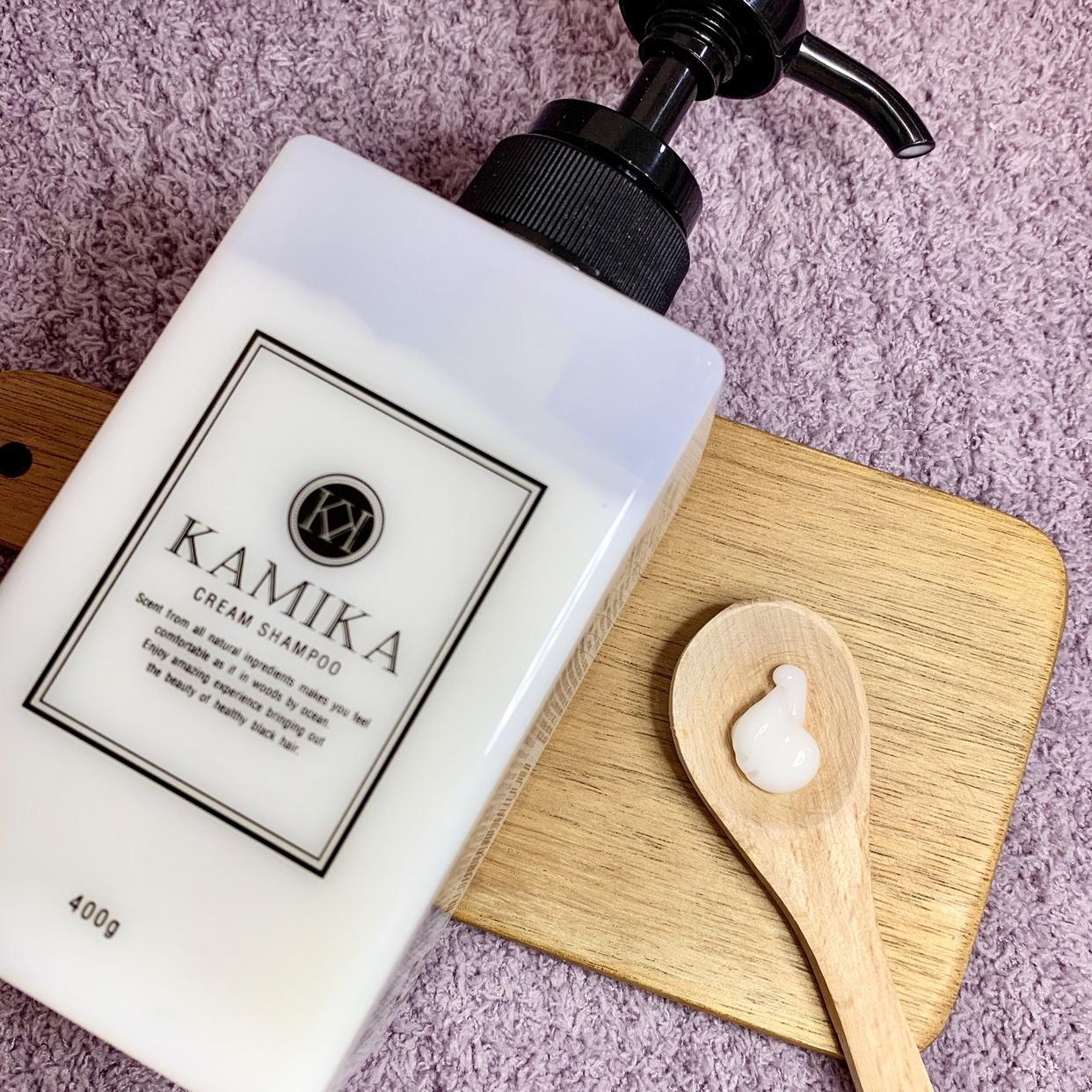 KAMIKA(カミカ) オールインワン黒髪クリームシャンプーを使ったうりむー姉さんさんのクチコミ画像