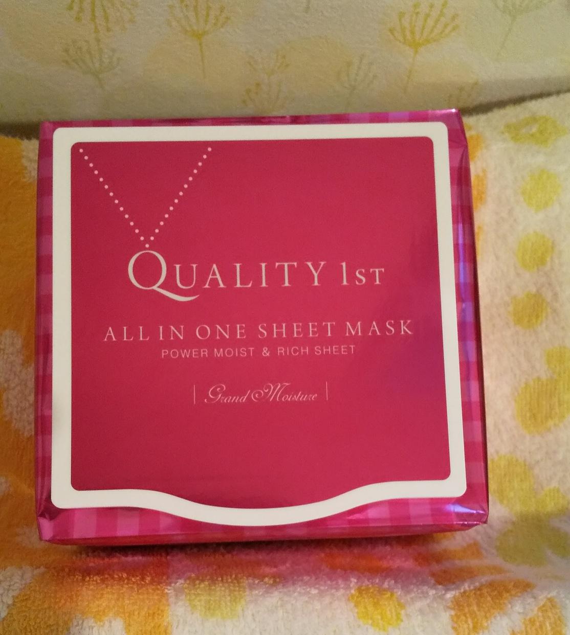 Quality 1st(クオリティファースト) オールインワンシートマスク モイストEXIIを使ったはなみさんのクチコミ画像