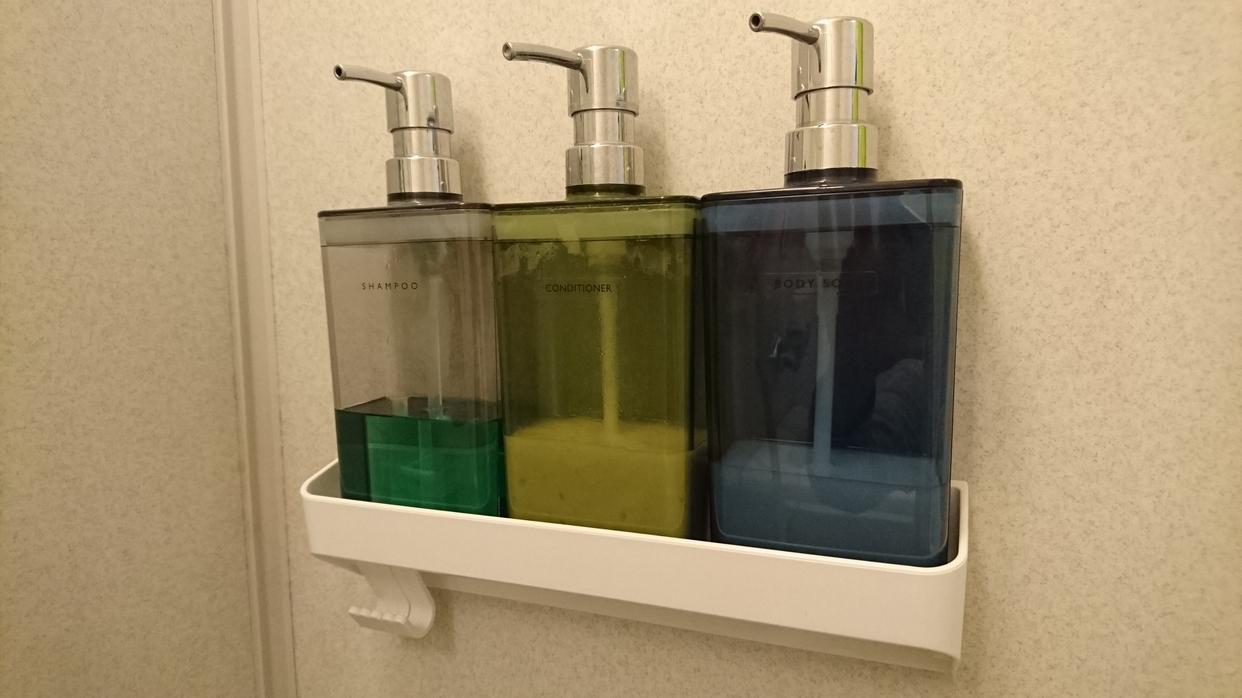 NITORI(ニトリ) 浴室マグネット ボトルラック ワイド アーバンを使ったRさんのクチコミ画像1