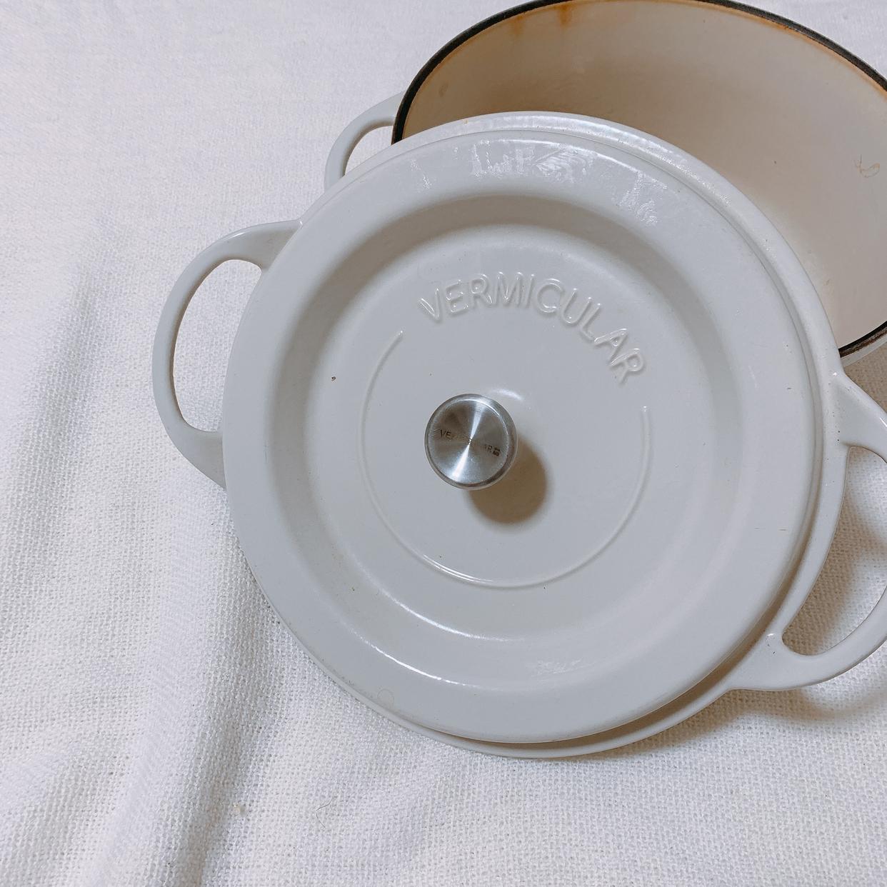 Vermicular(バーミキュラ)オーブンポットラウンド 26cm SUKIYAKI ナチュラルベージュを使ったあちゃんmomさんのクチコミ画像1
